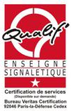 Logo certification Qualif' enseigne signaletique